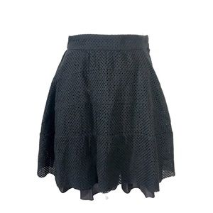 Marc Jacobs Black Mini Skirt Ruffle Flounce Mesh